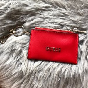 Guess Card case keychain